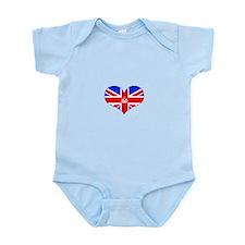 union jack royal heart Infant Bodysuit