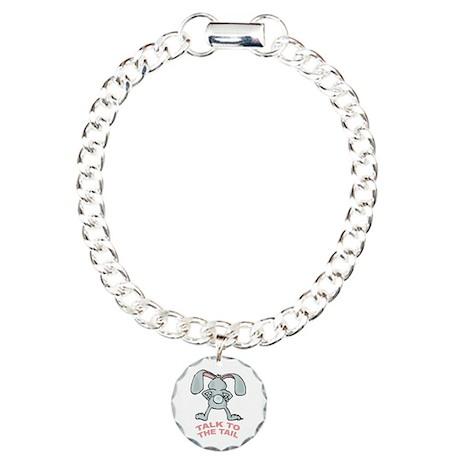 Talk To The Tail Rabbit Charm Bracelet, One Charm