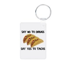 Funny Drugs Tacos Aluminum Photo Keychain