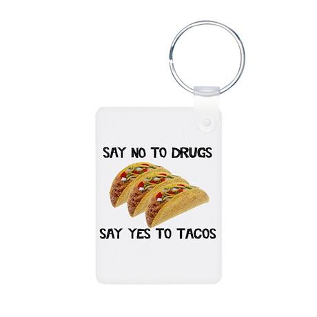 Funny Drugs Tacos Aluminum Photo Keychain
