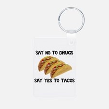 Funny Drugs Tacos Keychains