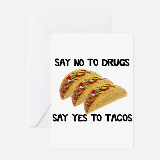 Funny Drugs Tacos Greeting Cards (Pk of 20)