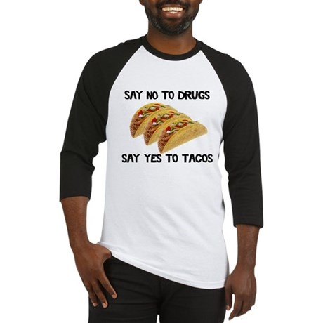 Funny Drugs Tacos Baseball Jersey