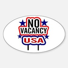 USA NO Vacancy Oval Decal