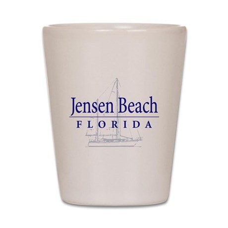 Jensen Beach Sailboat - Shot Glass