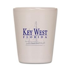 Key West Sailboat - Shot Glass