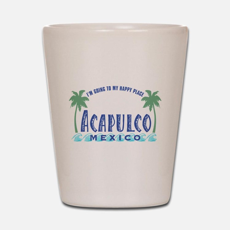 Acapulco Happy Place Shot Glass