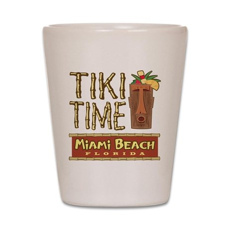 Miami Beach Tiki Time - Shot Glass