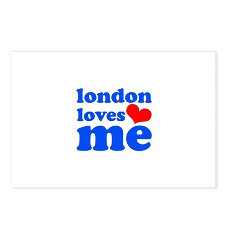 london loves me (blue/red) Postcards (Package of 8