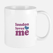 london loves me (purple/blue) Mug