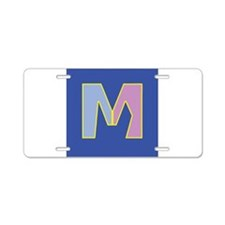M is for Marriage Aluminum License Plate