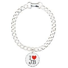 """I (heart) JB"" Bracelet"