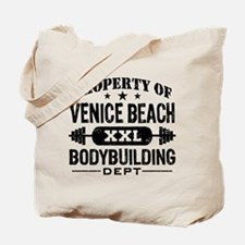 Property Of Venice Beach Bodybuilding Tote Bag