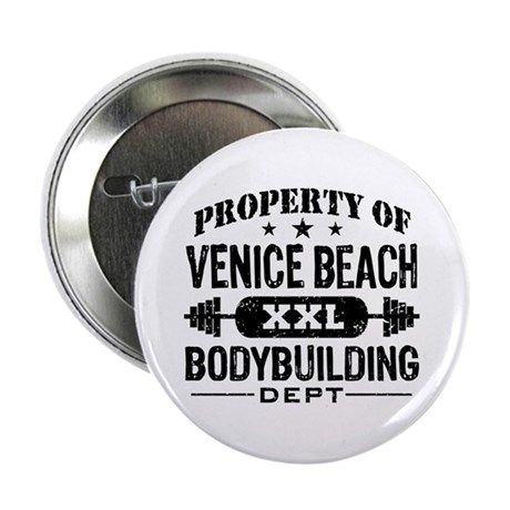 "Property Of Venice Beach Bodybuilding 2.25"" Button"