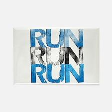 RUN x 3 Rectangle Magnet (100 pack)