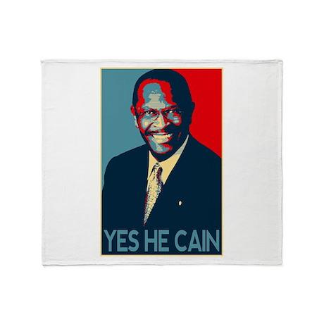 Herman Cain 2012 Throw Blanket