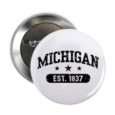 """Michigan Est. 1837 2.25"""" Button"""