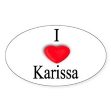 Karissa Oval Decal