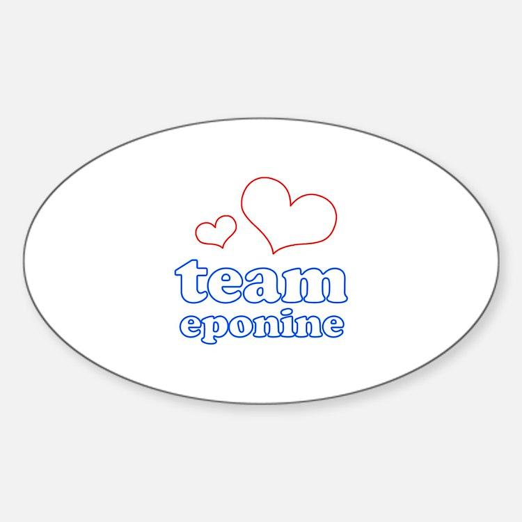 Team Eponine Sticker (Oval)