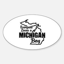 Michigan Boy Sticker (Oval)
