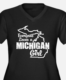 Everyone Loves a Michigan Girl Women's Plus Size V