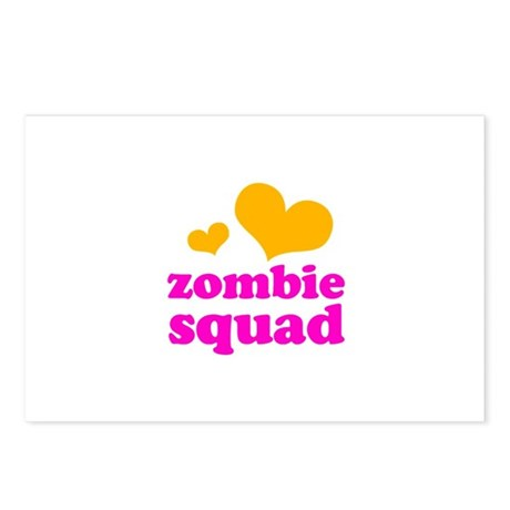 zombie squad (orange/pink) Postcards (Package of 8
