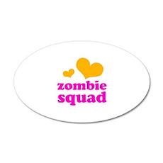 zombie squad (orange/pink) 22x14 Oval Wall Peel