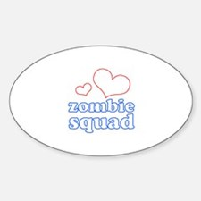 zombie squad (white/red/blue) Sticker (Oval)