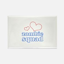 zombie squad (white/red/blue) Rectangle Magnet