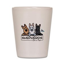 German Shepherd Fan Shot Glass