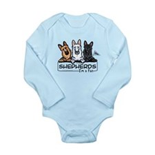 German Shepherd Fan Long Sleeve Infant Bodysuit