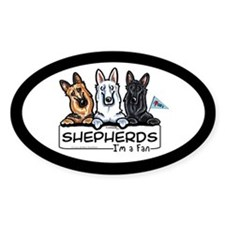 German Shepherd Fan Decal