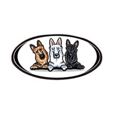 German Shepherd Trio Patches