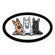 German Shepherd Trio Decal