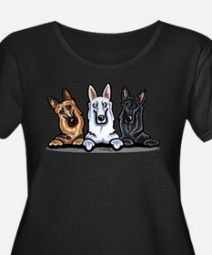German Shepherd Trio T