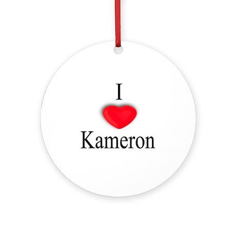 Kameron Ornament (Round)