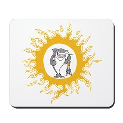 clever shark in the sun Mousepad