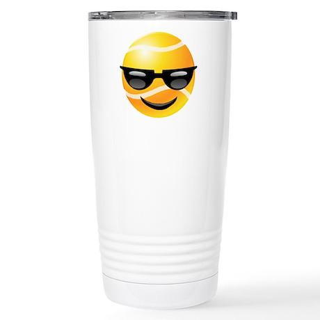 Smiley Tennis Stainless Steel Travel Mug