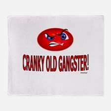 Cranky Old Gangster Throw Blanket