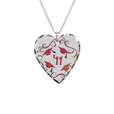 Senior '11 Grad Necklace Heart Charm