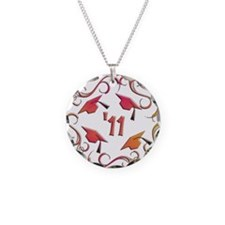 Senior '11 Grad Necklace Circle Charm