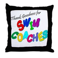 Swim Coaches Throw Pillow