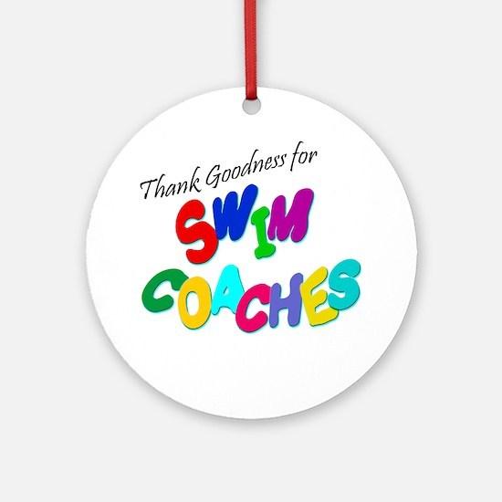 Swim Coaches Ornament (Round)