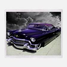 Purple Cadillac Throw Blanket