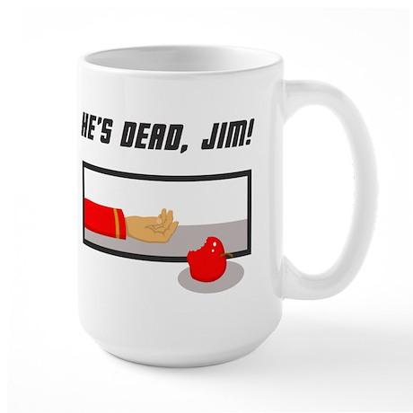 He's Dead Jim Large Mug