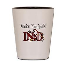 American Water Spaniel Dad Shot Glass