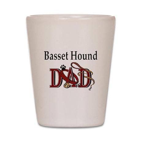 Basset Hound Dad Shot Glass