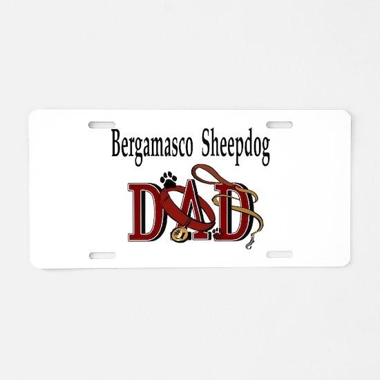 Bergamasco Sheepdog Dad Aluminum License Plate
