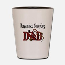 Bergamasco Sheepdog Dad Shot Glass