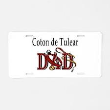 Coton de Tulear Dad Aluminum License Plate